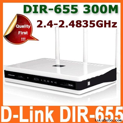 Unlocked D-Link DIR-655 300Mbps Xtreme N Gigabit Wireless Router