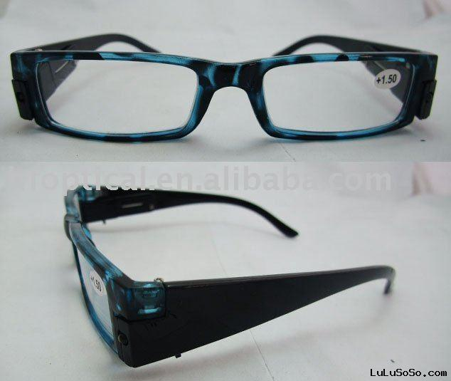 led reading glasses/night-lighted eyewear
