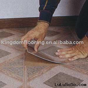 pvc tile with adhesive