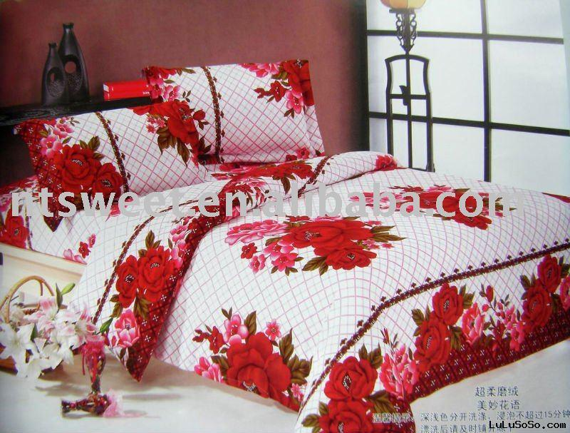 100% cotton flannel comforter set