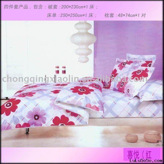 100% polyester Luxury bed sheet