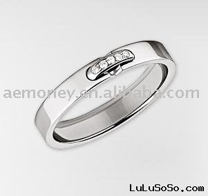 18K White Gold Diamond Ring, wedding rings