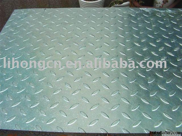 Galvanized diamond plate