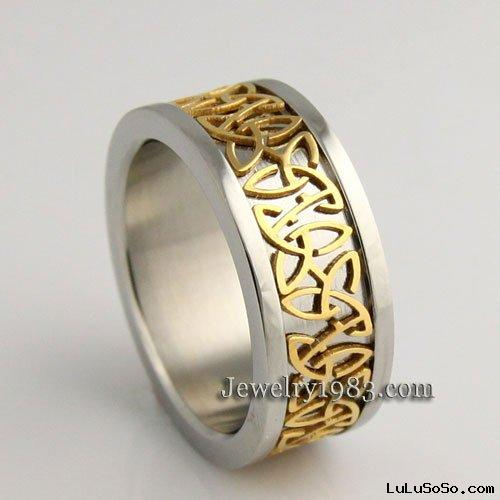 Titanium wedding bands celtic
