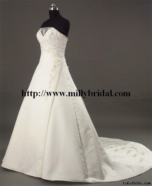 vintage and elegant 2011 summer couture wedding dresses AAW107