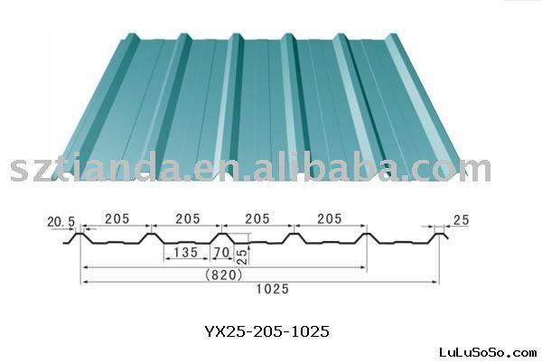 color corrugated steel sheet / corrugated iron steel sheet / corrugated roof sheets