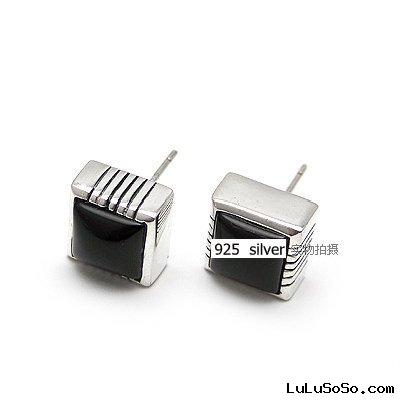 diamond earrings(silver)