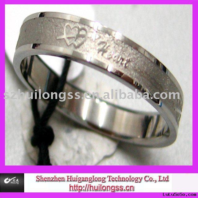 2010 fashion steel wedding ring 1Material stainless steel 304L or 316L is