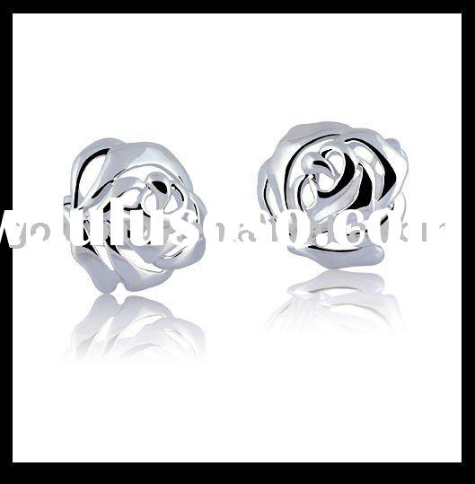 14K Gold -plated 2011 Fashion Rose Earrings