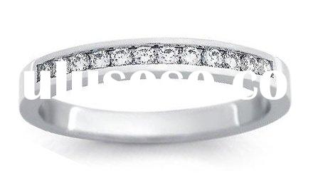 18k White Gold Channel-Set Seven-Stone Diamond Ring (SI/H-I, 1/2 ct. tw.)