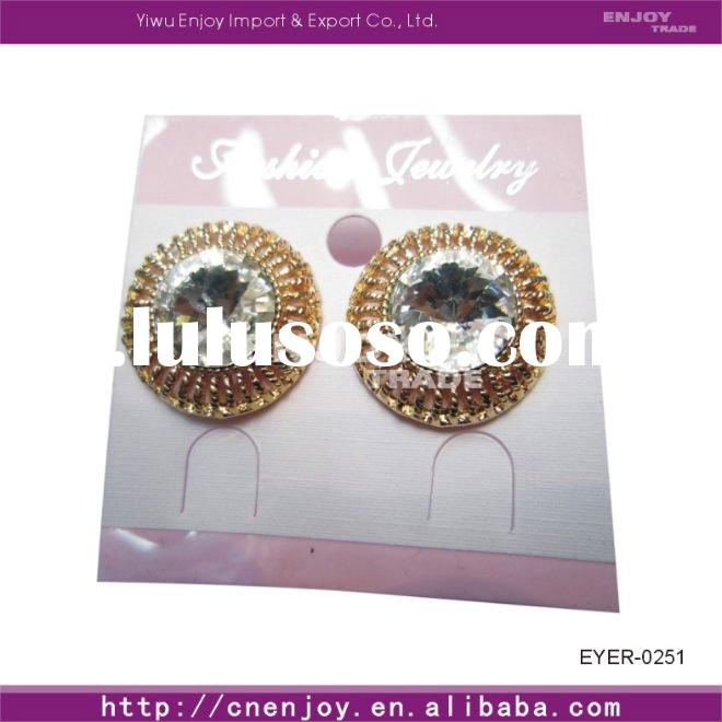 2011Fashion diamond chandelier earrings