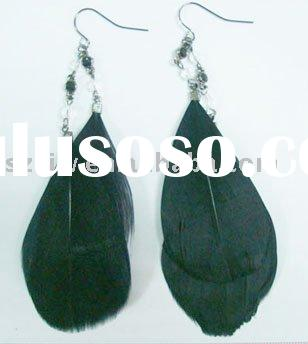 2011 new design fashion feather earring