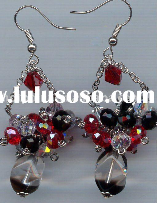 Colorful diamond chandelier earrings