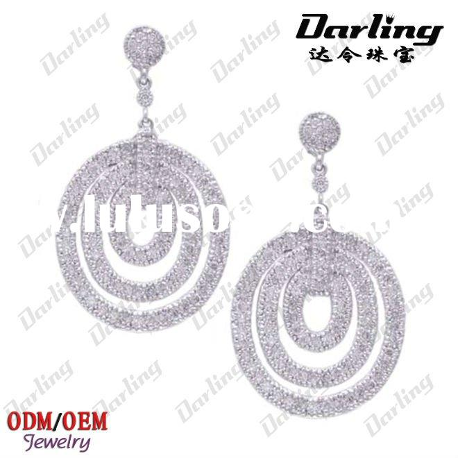 Fashion women's diamond chandelier earrings