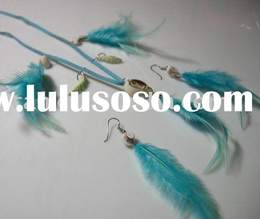 Long feather earrings sets
