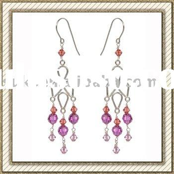 Pink Diamond Chandelier Earrings