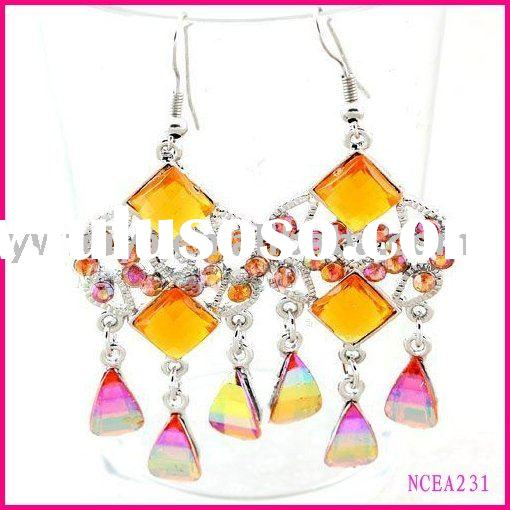 fashion diamond chandelier earrings