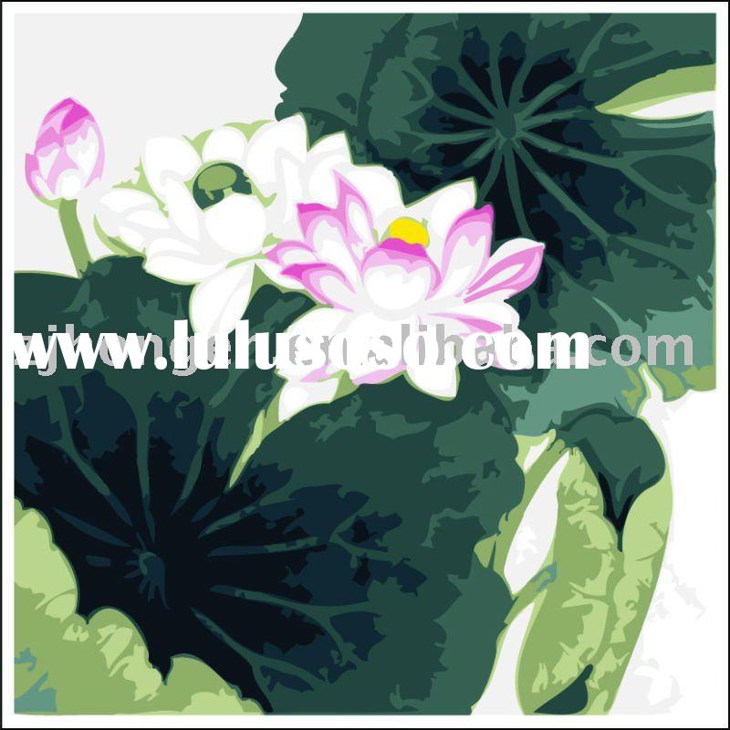 Lotus digital oil painting