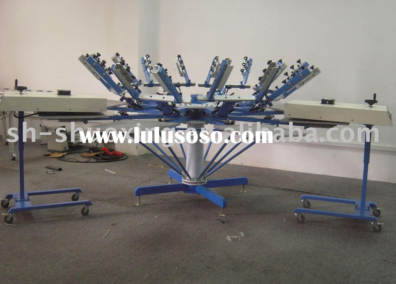 Manual t-shirt presses, manual textile screen printing machine,garment screen printer