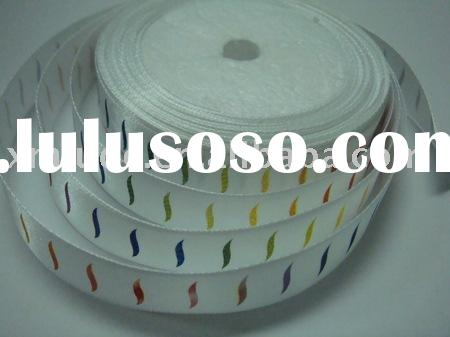 printed satin ribbon,satin printing ribbon,printed ribbon