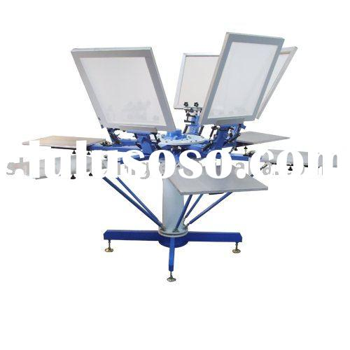 Manual T-shirt screen printing machine with aluminum pallet