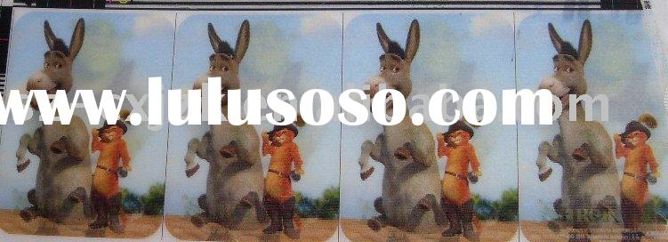 High quality Plastic 3D lenticular card printingComply with SGS