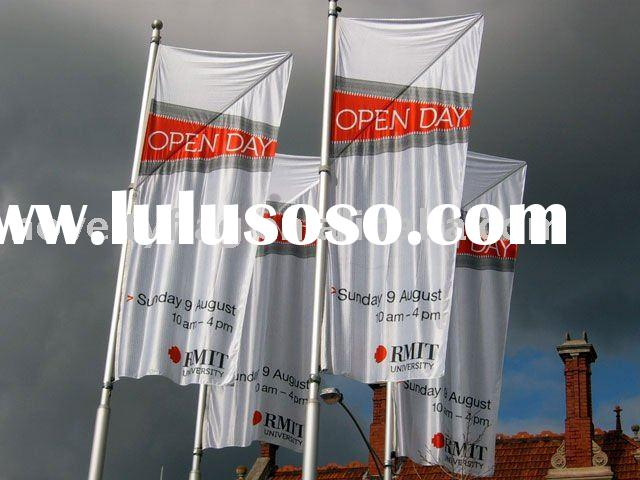 Outdoor custom flag, screen printing and digital printing
