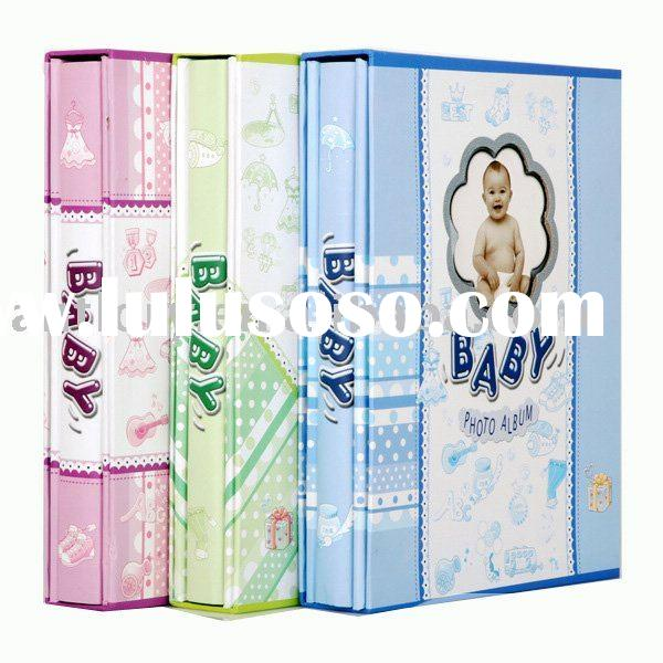 china professional 4-c print paper cover with box baby photo album(post bound)