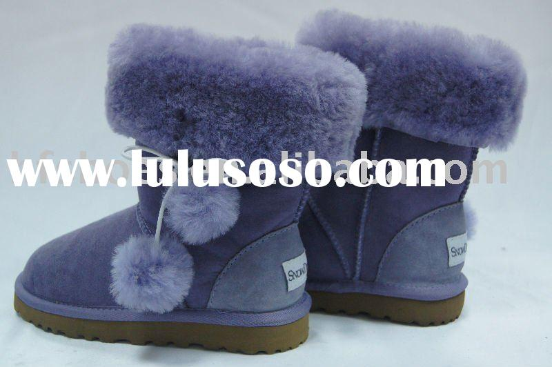 2011 hot sale children boots leather winter warm and health