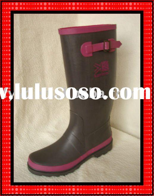 YC Lady cheap ladies fashion rubber high boots