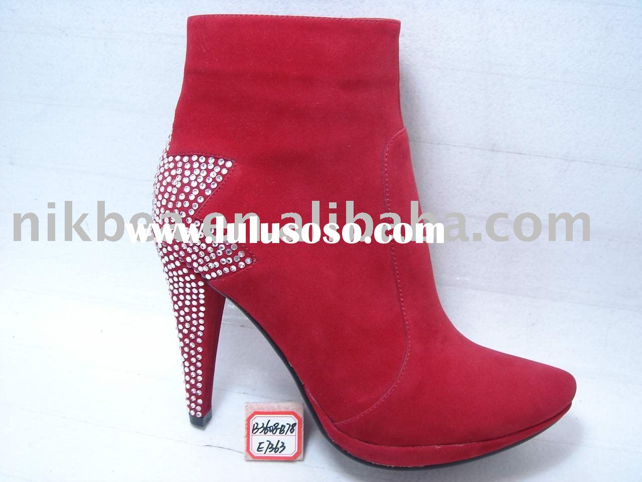fashion latest new design high quality high heel woman boots and shoes for wholesale