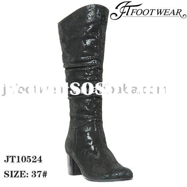 flat heel leather boots