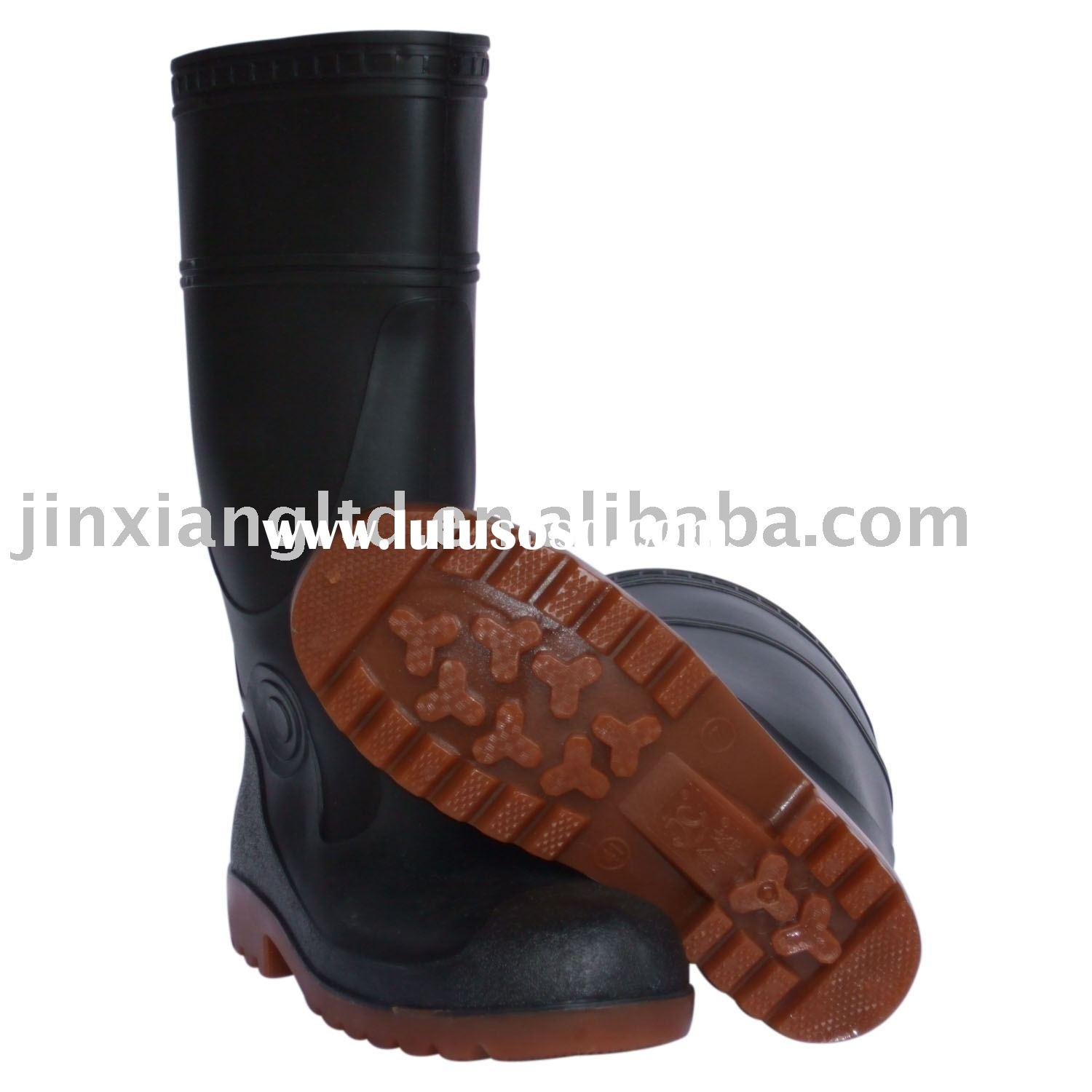 steel toe cap boots, JX-802,pvc rain boot,safety shoe