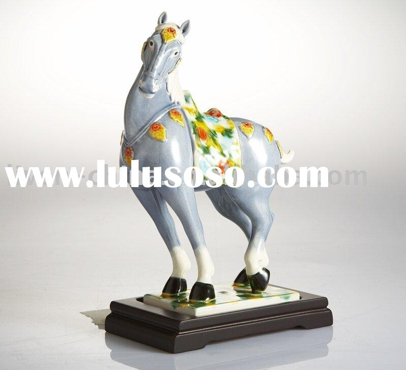 "Exclusive 7"" Handmade Ceramic Horses of Tang Dynasty/ ceramic sculpture"