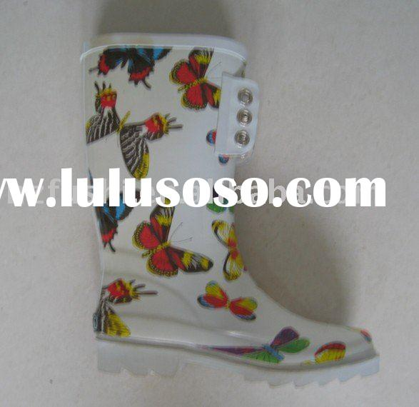 Spring ladies rubber boots