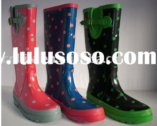 Lostlands fashion lace women's rain boots individual knee-high winter boots popular water shoes
