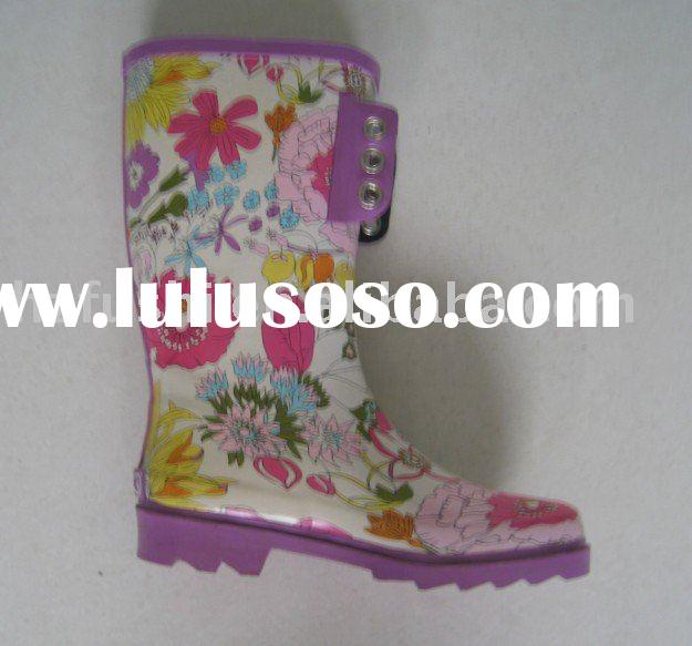 colorful ladies rubber boots