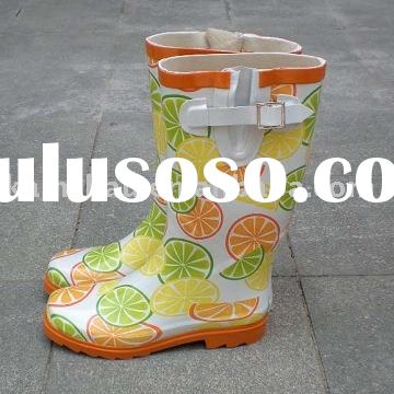 colorful women's rubber boots