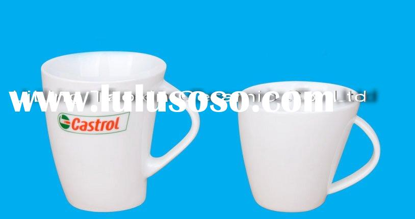 white ceramic coffee mugs