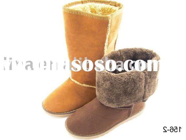 women shoes suede rubber snow boot ladies snow boots suede long boots women shoes