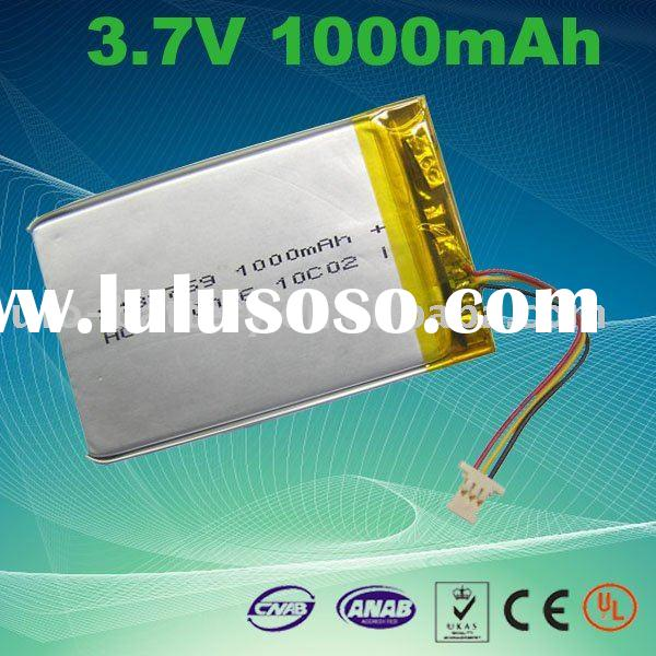 3.7v 1000mAh Li Polymer Battery Pack for Vehicle DVR