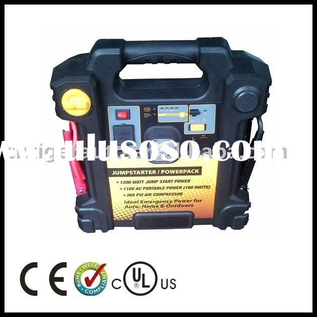 4 IN 1 Jump Start with Work Light, air compressor and Power Inverter