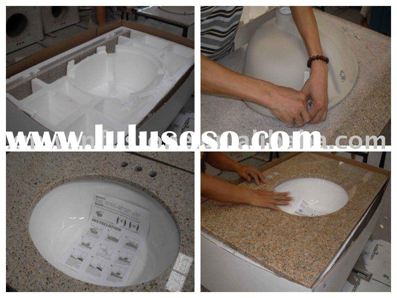 Granite vanity top with undermount sink for HomeDepot