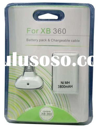 for Microsoft XBOX 360 3800mah battery pack & chargeable cable
