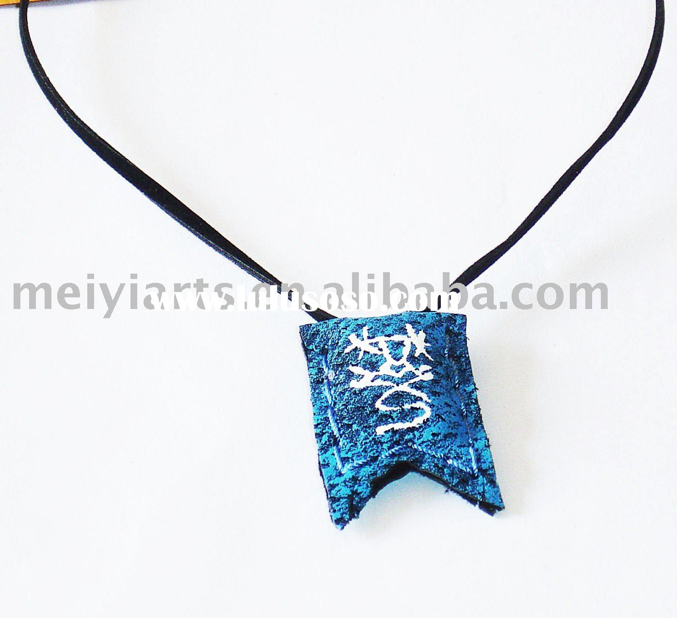 leather craft necklace