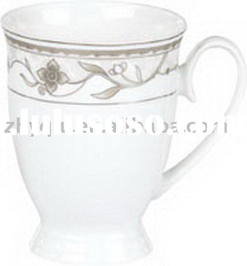 white porcelain mugs