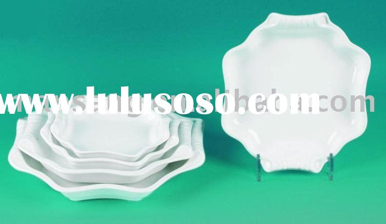 white porcelain square quality dinnerware plate