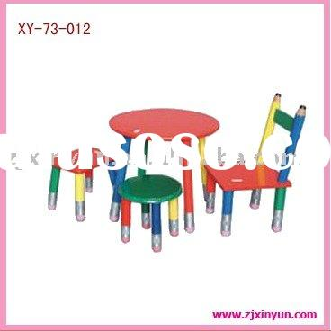 New Children's Colorful Pencil Kids Table And Chairs Toy Set