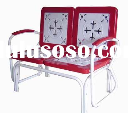 Metal Chairs on How Do I Repair A Retro Steel Frame Double Glider    Ehow Com