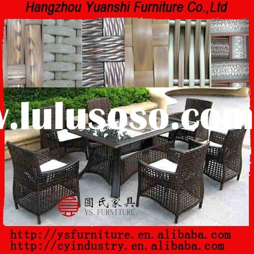 Resin outdoor rattan/wicker dinning sets with chairs
